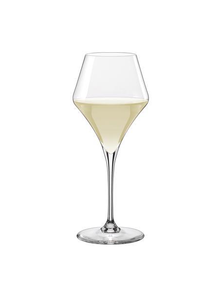 Bolvormige witte wijnglazen Aram, 6-delig, Glas, Transparant, Ø 9 x H 22 cm