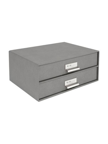 Organizador de escritorio Birger, Caja: cartón laminado, Gris claro, An 33 x Al 15 cm