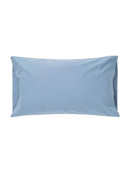 Funda de almohada Plain Dye, Algodón El algodón da una sensación agradable y suave en la piel, absorbe bien la humedad y es adecuado para personas alérgicas, Azul vaquero, An 50 x L 110 cm