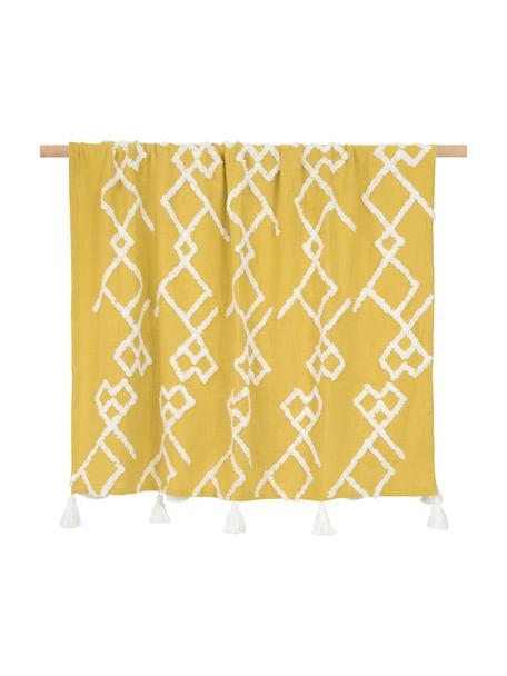 Manta Tikki, 100%algodón, Amarillo, An 130 x L 170 cm