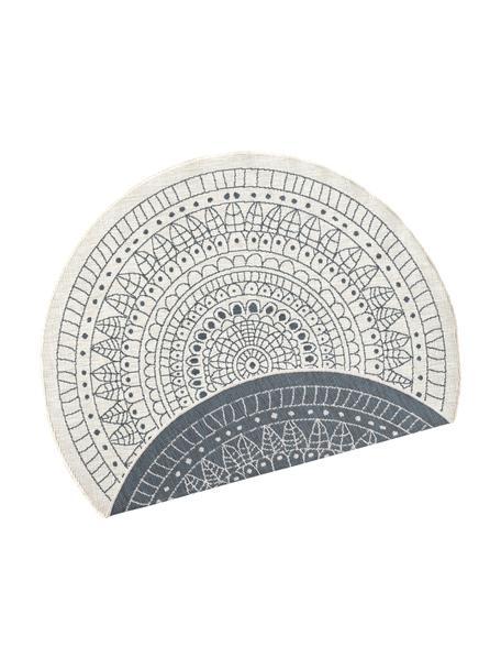 Alfombra redonda reversible de interior/exterior Porto, Gris, crema, Ø 140 cm (Tamaño M)