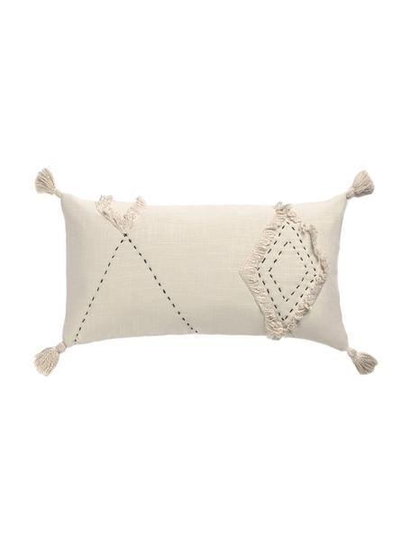 Poszewka na poduszkę Lienzo, 100% bawełna, Złamana biel, S 30 x D 60 cm