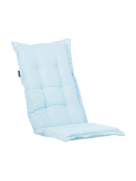 Einfarbige Hochlehner-Stuhlauflage Panama in Hellblau, Bezug: 50% Baumwolle, 50%Polyes, Hellblau, 50 x 123 cm