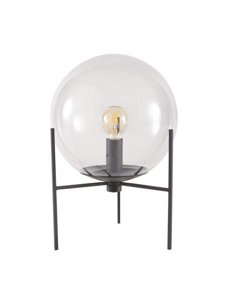 Mała lampa stołowa ze szkła Alton, Czarny, szary, transparentny, Ø 20 x W 29 cm