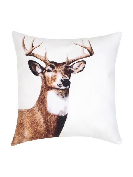 Poszewka na poduszkę  Dasher, Bawełna, Brązowy, biały, S 40 x D 40 cm