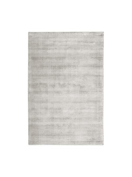 Tappeto in viscosa tessuto a mano Jane, Retro: 100% cotone, Grigio chiaro-beige, Larg. 200 x Lung. 300 cm (taglia L)