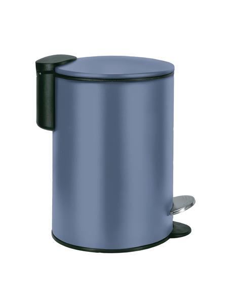 Papelera Silence, Metal pintado, Azul oscuro, Ø 17 x Al 24 cm