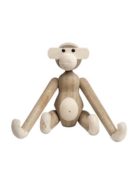 Dekoracja z drewna dębowego Monkey, Drewno dębowe, drewno klonowe, lakierowane, Drewno dębowe, drewno klonowe, S 20 x W 19 cm