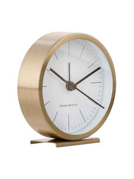 Tafelklok Hannah, Frame: aluminium, Wijzerplaat: papier, Goudkleurig, Ø 9 x H 9 cm