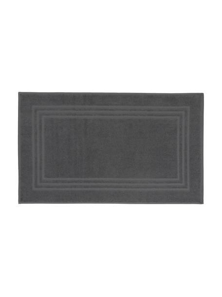 Tappeto bagno in tinta unita Gentle, 100% cotone, Grigio scuro, Larg. 50 x Lung. 80 cm
