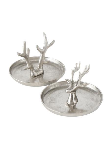 Set de bandejas decorativas Hanry, 2pzas., Aluminio, Aluminio, Ø 16 x Al 13 cm
