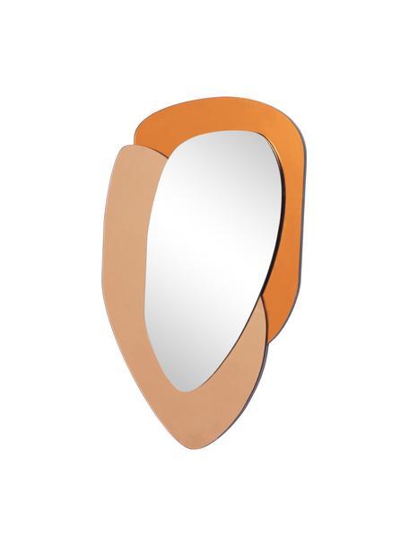 Specchio da parete con cornice in vetro colorato Layer, Lastra di vetro, Arancione, marrone caramello, lastra di vetro, Larg. 48 x Alt. 76 cm