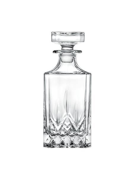 Kristalglazen karaf Opera met reliëf, 750 ml, Kristalglas, Transparant, H 19 cm