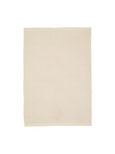 Tappeto in lana tessuto a mano Delight, Retro: cotone, Bianco, Larg. 250 x Lung. 350 cm (taglia XL)