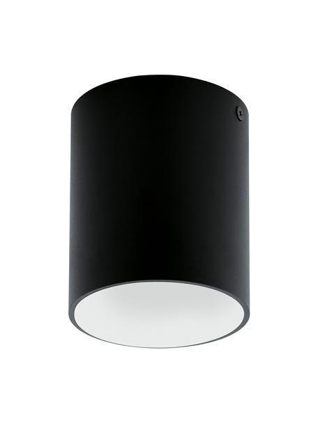 Plafondlamp Marty, Gepoedercoat metaal, Zwart, wit, Ø 10 x H 12 cm