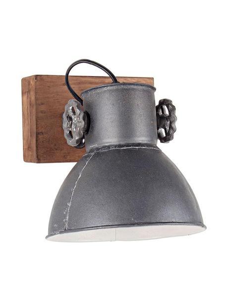 Aplique Applique, Pantalla: hierro, Gris, marrón, An 18 x Al 27 cm