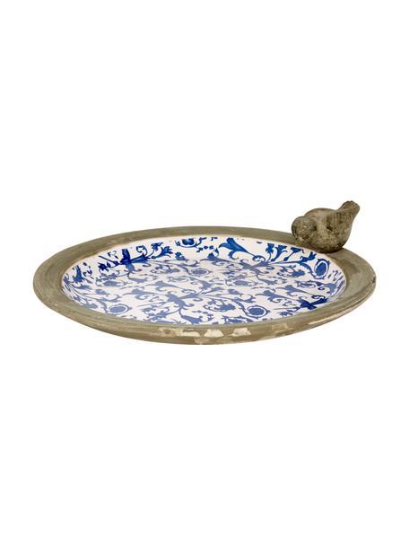 Vogeltränke Adela, Keramik, Blau, gebrochenes Weiß, Beige, Ø 34 x H 11 cm