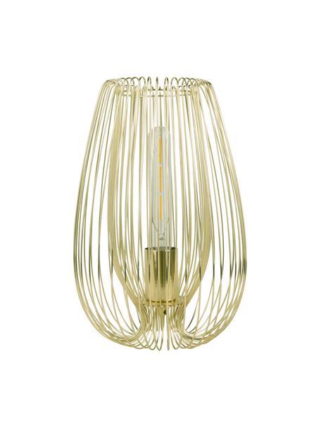 Kleine tafellamp Lucid van metaal, Lamp: gelakt metaal, Messingkleurig, Ø 22 x H 33 cm