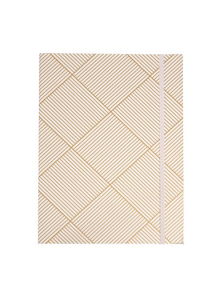 Sammelmappe Paulina, Goldfarben, Weiß, 23 x 32 cm