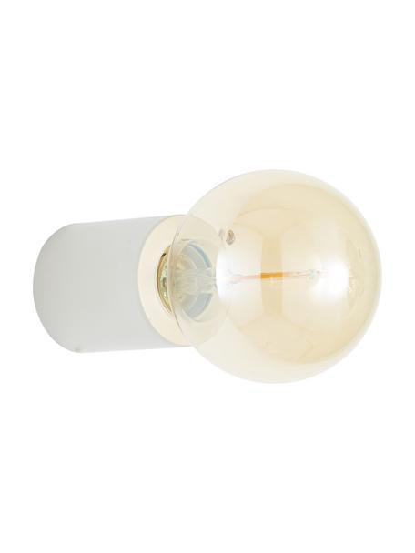 Wandlamp Chanty, Lamp: gepoedercoat metaal, Mat wit, Ø 6 cm