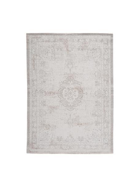 Tappeto vintage in ciniglia Medaillon, Tessuto: Jacquard, Retro: Filato di ciniglia, rives, Grigio chiaro, marrone, Larg.170 x Lung. 240 cm  (taglia M)