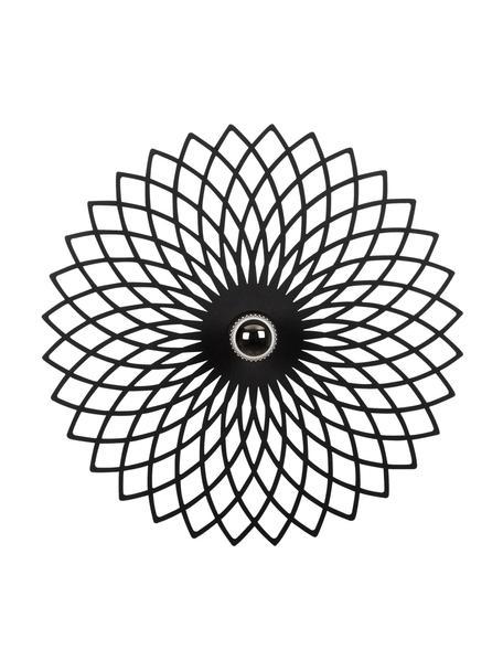 Aplique / Plafón de diseño Fellini, Pantalla: metal recubierto, Negro, Ø 50 x F 12 cm