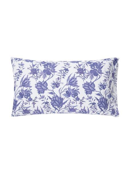 Fundas de almohada Erika, 2uds., Algodón, Blanco, azul, An 50 x L 80 cm
