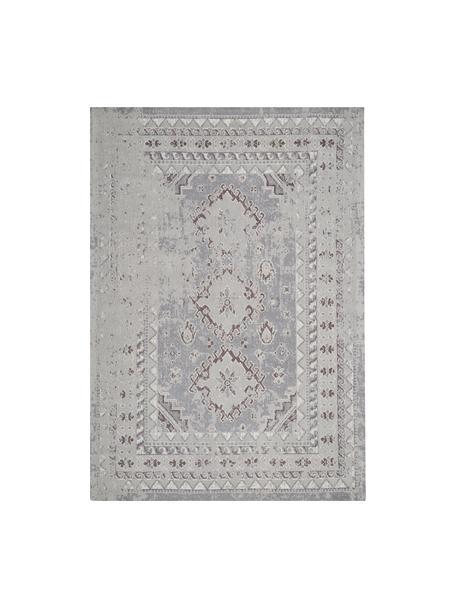 Dywan szenilowy vintage Rebel, Jasny szary, kremowy, S 160 x D 230 cm (Rozmiar M)