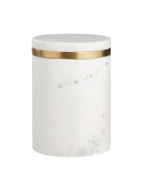 Contenitore in marmo Maniu, Marmo, Bianco, Ø 12 x Alt. 16 cm