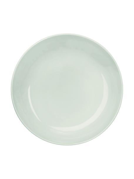 Porzellan-Suppenteller Kolibri in Mintgrün glänzend, 6 Stück, Porzellan, Mintgrün, Ø 24 cm