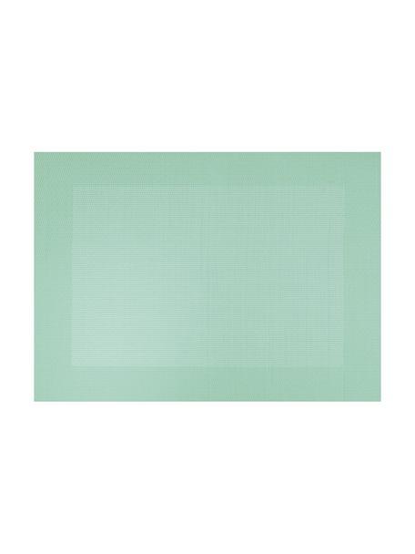 Manteles individuales de plástico Trefl, 2uds., Plástico (PVC) es aspecto de cuero, Verde menta, An 33x L 46 cm