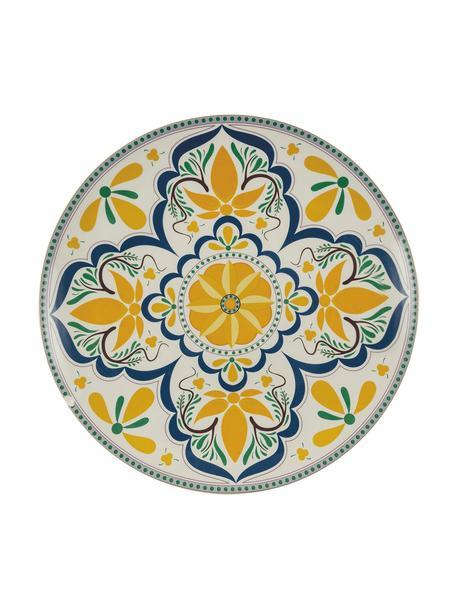 Fuente artesanal Sicilia, Dolomita pintada a mano, Multicolor, Ø 34 x Al 4 cm