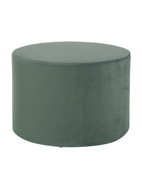 Pouf in velluto Daisy, Rivestimento: velluto (poliestere) Con , Struttura: compensato, Verde chiaro, Ø 54 x Alt. 40 cm