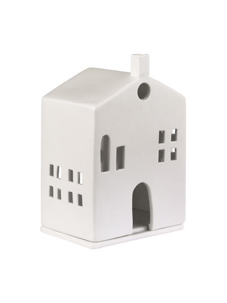 Teelichthalter Building, Porzellan, Weiß, 10 x 15 cm