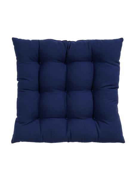 Cuscino sedia Ava, Rivestimento: 100% cotone, Blu navy, Larg. 40 x Lung. 40 cm