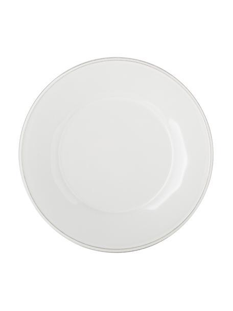 Talerz śniadaniowy Constance, 2 szt., Kamionka, Biały, Ø 24 cm