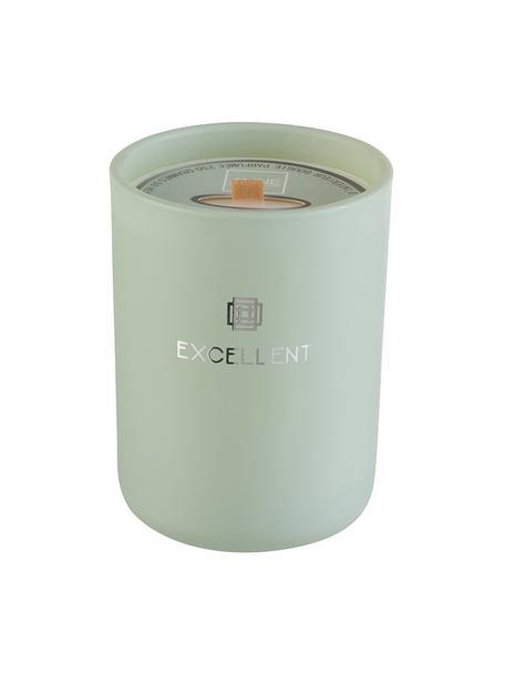 Duftkerze Excellent (Bergamotte, Holz), Behälter: Glas, Grün, Ø 9 x H 12 cm
