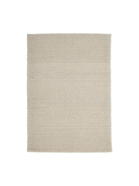 Alfombra artesanal de lana My Loft, Parte superior: 60%lana, 40%viscosa, Reverso: algodón, Marfil, An 80 x L 150 cm (Tamaño XS)
