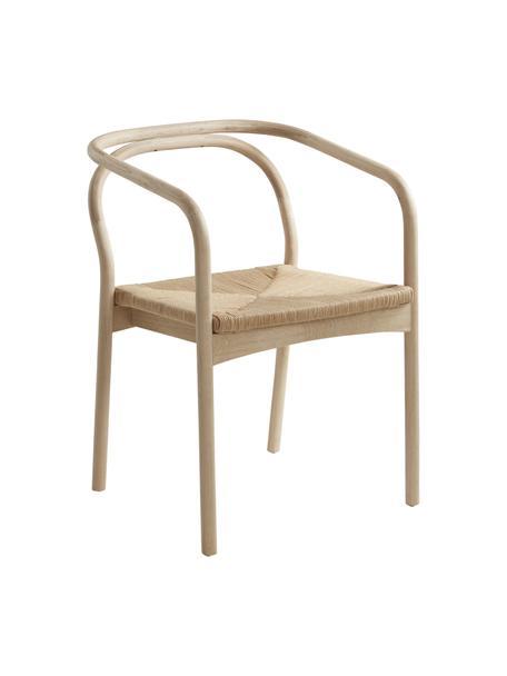 Sedia in legno di rovere Lidingo, Cornice: Legno di quercia sbiancat, Seduta: Maglia di carta, Beige, Larg. 54 x Prof. 56 cm