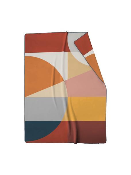 Plaid Pano met  geometrisch patroon, 50% katoen, 43% polyacryl, 7% polyester, Multicolour, 150 x 200 cm