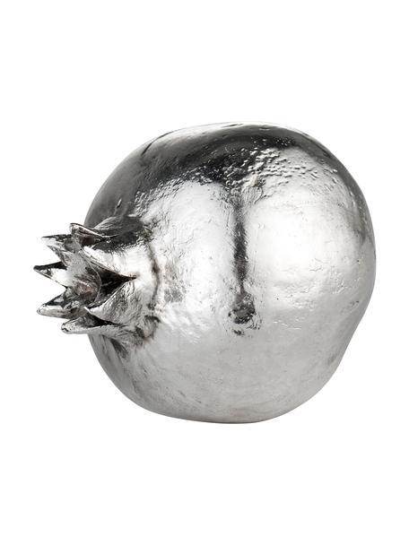 Deko-Objekt Serafina Pomegranate, Polyresin, Silberfarben, Ø 7 x H 8 cm