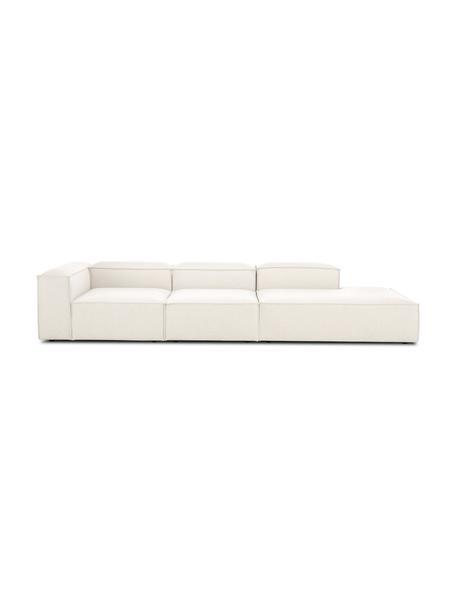 Modulaire XL chaise longue Lennon in beige, Bekleding: polyester De hoogwaardige, Frame: massief grenenhout, multi, Poten: kunststof, Beige, B 357 x D 119 cm