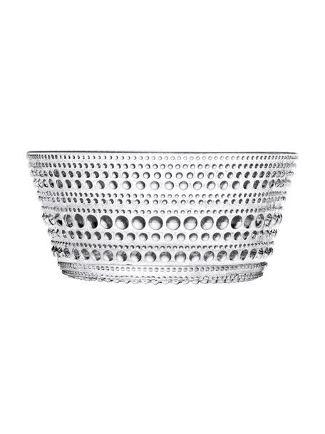 Ciotola con motivo a goccia Kastehelmi, Vetro, Trasparente, Ø 11 x A 5 cm