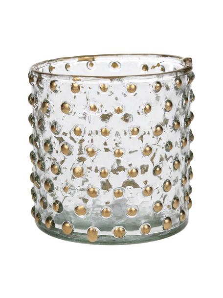 Waxinelichthouder Goldma, Gelakt glas, Goudkleurig, Ø 8 x H 8 cm