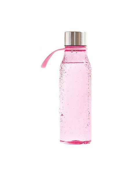 Kleine To Go Trinkflasche Lean, Flasche: Tritan (Kunststoff), BPA-, Pink, Stahl, 570 ml