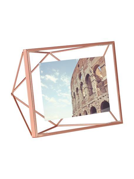 Portafoto da tavolo color rame Prisma, Cornice: acciaio, Rame, 10 x 15 cm