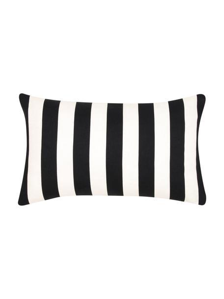 Gestreepte kussenhoes Timon in zwart/wit, 100% katoen, Zwart, wit, 30 x 50 cm