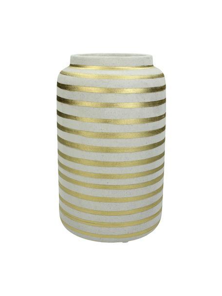 Vase Finesia aus Steingut, Steingut, Goldfarben, Beige, Ø 14 x H 23 cm