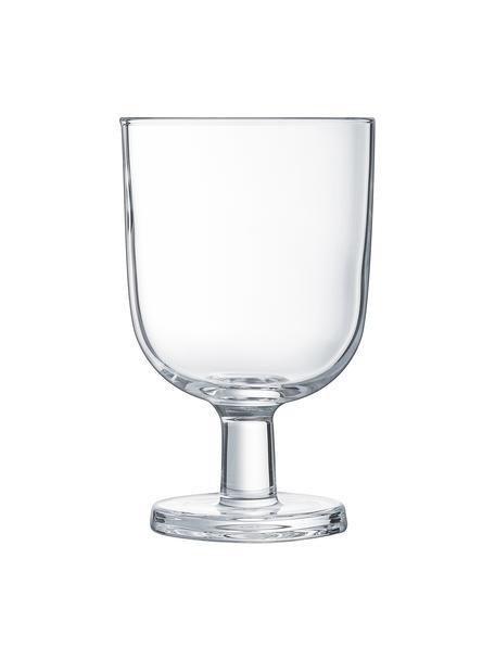 Copas apilables Agun, 6 uds., vidrio de sílice, Transparente, Ø 8 x Al 12 cm