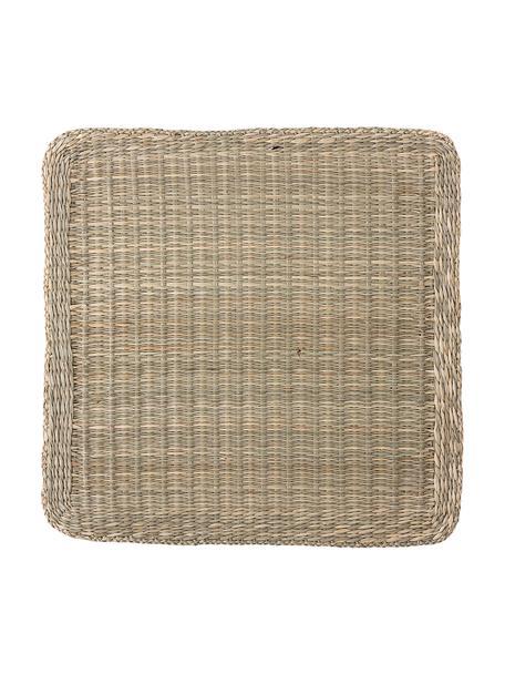 Placemat van zeegras Lena, Zeegras, Lampenkap: grijs. Lampvoet: grijs. Snoer: wit, 38 x 38 cm